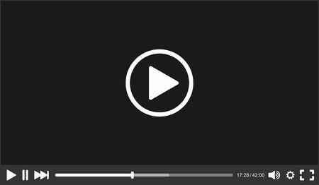 video player: Video Player interface for Web.   Illustration