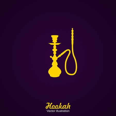 Black Silhouette of a Hookah. Vector Illustration