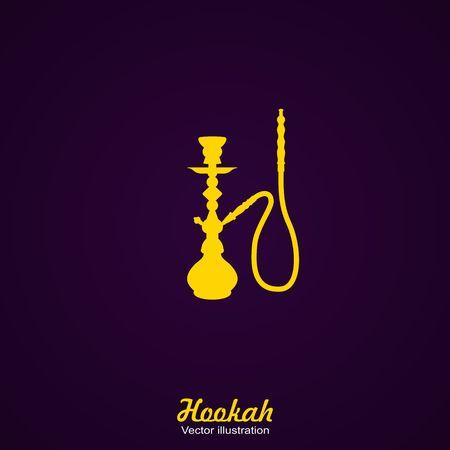 Black Silhouette of a Hookah. Vector Illustration