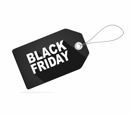 Black Friday sales tag or label. Vector Illustration  イラスト・ベクター素材