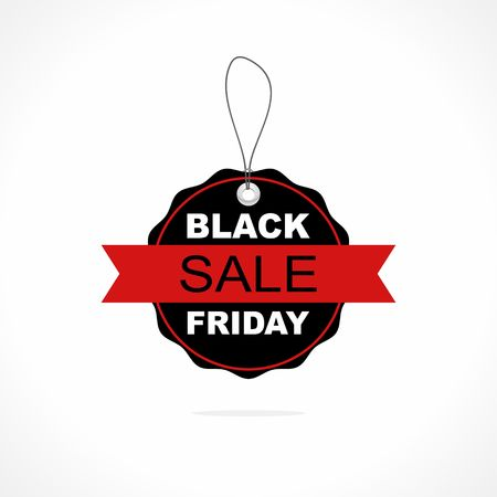Black Friday sales tag or label. Vector Illustration Illusztráció