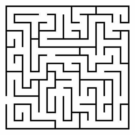 Vector illustration of Maze or Labyrinth isolated on white background.
