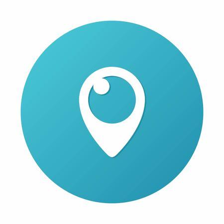Periscope Icon on blue background.  Illustration