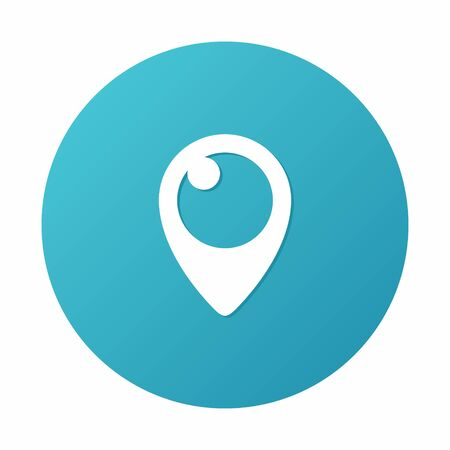 blue button: Periscope Icon on blue background.  Illustration