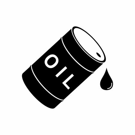barrell: Barrel and drop Oil icon.  Illustration