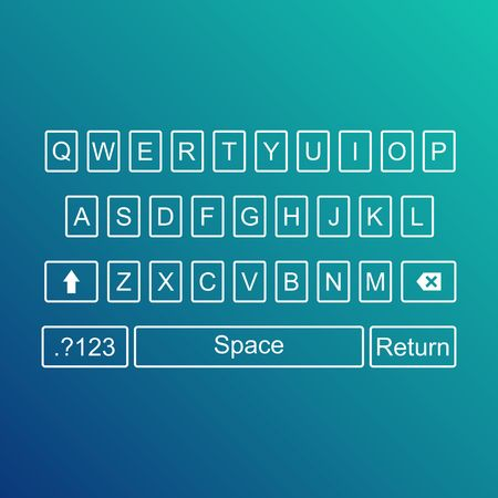qwerty: Keyboard of smartphone alphabet buttons. Qwerty Vector illustration.