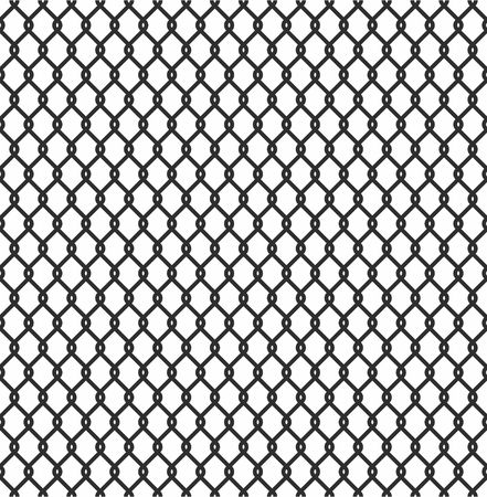 enclose: Metallic wired Fence seamless pattern isolated on white background. Steel Wire Mesh Vector Illustration Illustration