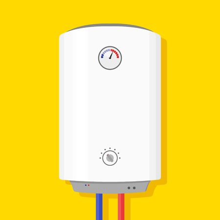 thermodynamic: Boiler Icon in flat style isolated on yellow background wish shadow. Illustration
