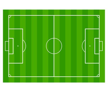 soccer field: Grass Soccer or Football field isolated on white background.