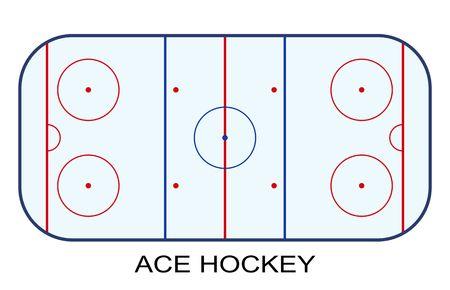 Ice Hockey Rink isolated on white background.