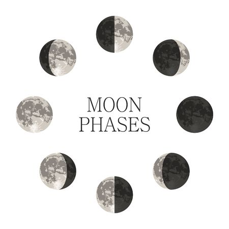 2,622 Moon Phase Cliparts, Stock Vector And Royalty Free Moon Phase