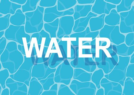 ripple: Turquoise rippled water texture background. Shining blue water ripple pool abstract vector