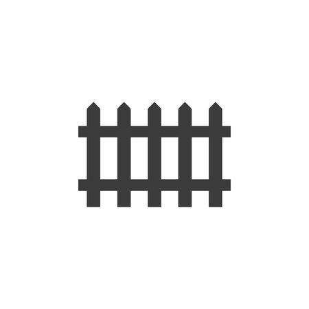 Black fence icon isolated on white background. Illustration