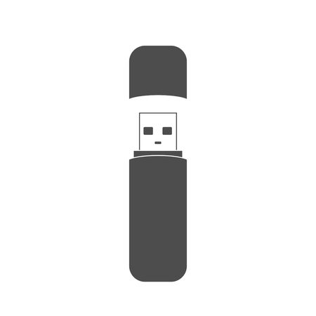 memory stick: Flash drive USB memory stick icon isolated on white background.