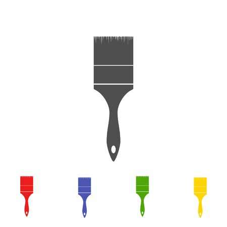 paint tool: Brush paint tool icon isolated on white background. Vector illustration