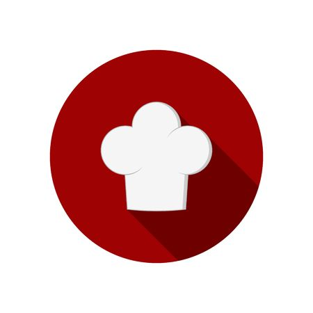 Chef hat icon isolated on white background clothing cook in flat style.