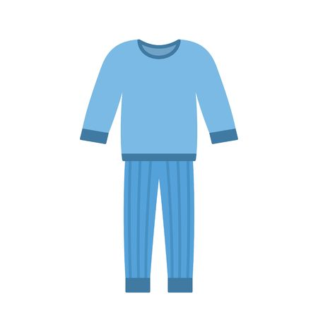 Comfort blue pajamas isolated on white background. Vector illustration