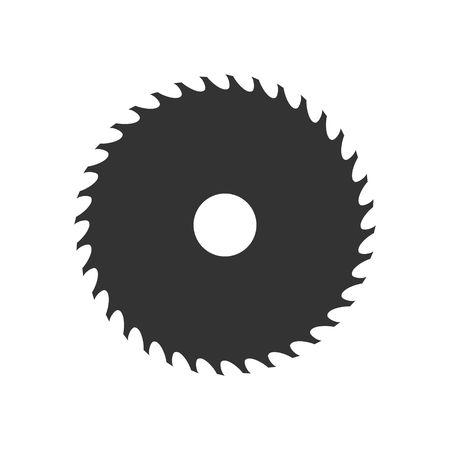Circular saw blade icon geïsoleerd op een witte achtergrond. Vector illustratie