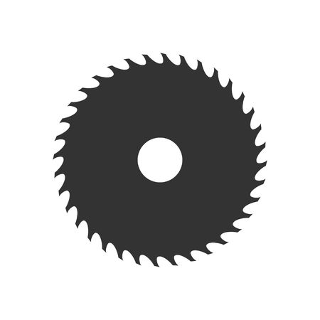 Circular saw blade icon isolated on white background. Vector illustration Stok Fotoğraf - 80951066