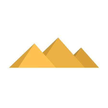 Egypt pyramids Giza isolated on white background. Vector illustration Illustration