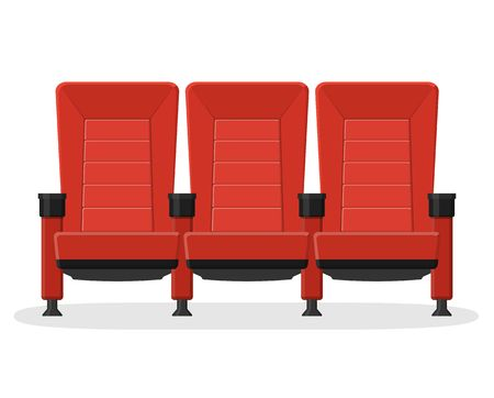 Rode stoelen pictogram. Stock Illustratie