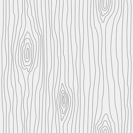 Wood grain texture. Seamless wooden pattern. Abstract line background. Vector illustration