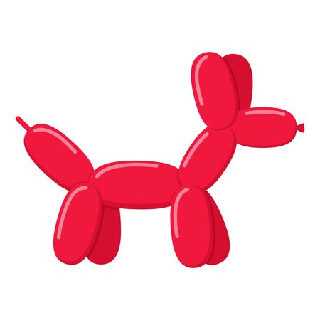 Red balloon dog isolated on white background. Vector illustration Vector Illustration