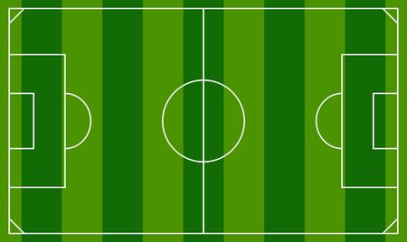 Soccer field or european football field background template soccer field or european football field background template top view field vector illustration stock vector maxwellsz