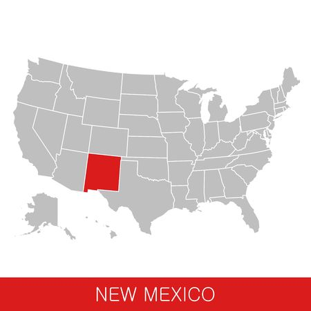 United States of America with the State of New Mexico selected. Map of the USA vector illustration Ilustrace