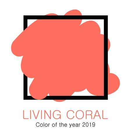 Color of the year 2019 - Living Coral. Vecror illustration