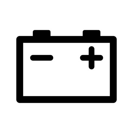 Car Battery icon isolated on white background. Accumulator battery energy power and electricity accumulator battery. Battery accumulator car auto parts electrical supply power. Vector illustration