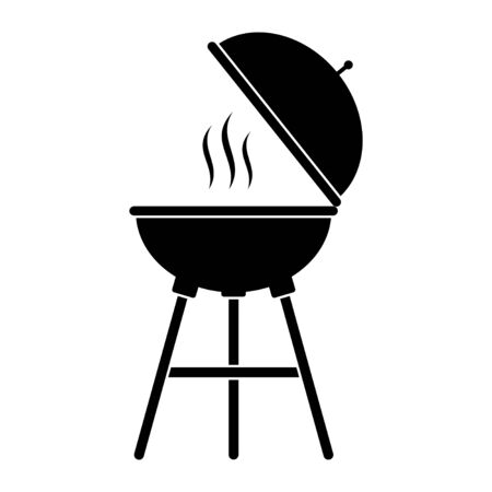 Grill bbq vector icon illustration isolated on white background.
