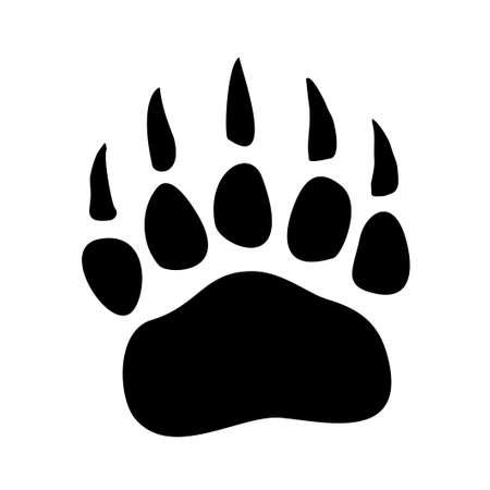 Bear paw print icon isolated on white background. Animal footprint symbol, Vector illustration