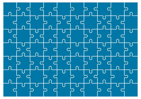 Jigsaws puzzles simple pattern, Classic puzzles game element or mosaic part connection. Vector illustration