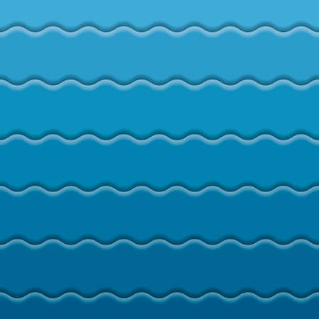 Blue abstract background wave paper layers with drop shadows. Modern empty banner. Vector illustration backdrop template