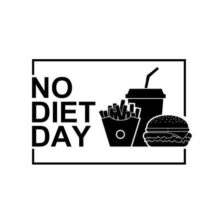 International No Diet Day icon Vector Illustration on white background. Junk Food icon. Fast food, Suitable for greeting card, poster and banner