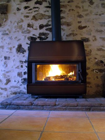 woodburner: woodburner fire
