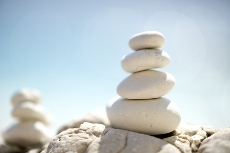 tower of pebbles Stock Photo - 8643574
