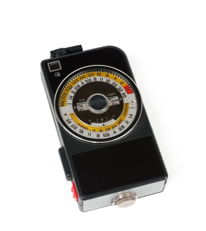 Photographic Light Meter For Wide Format Cameras In White