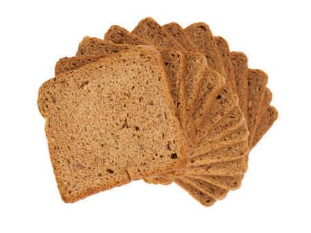 rye bread: Rye bread for toasts in a stack