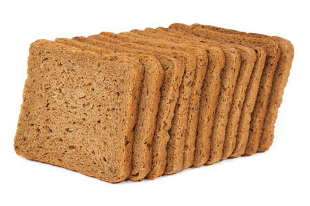 rye bread: Slices of Toast rye bread isolated on white