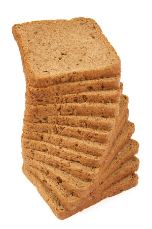 rye bread: Rye bread for toasts and sandwiches in a stack