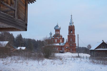 the orthodox church: Orthodox church in Russia. Shirkovo village in upper Volga, Tver region, Russia.