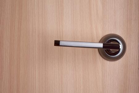 palanca: palanca de la puerta del metall Inter en la puerta de color beige