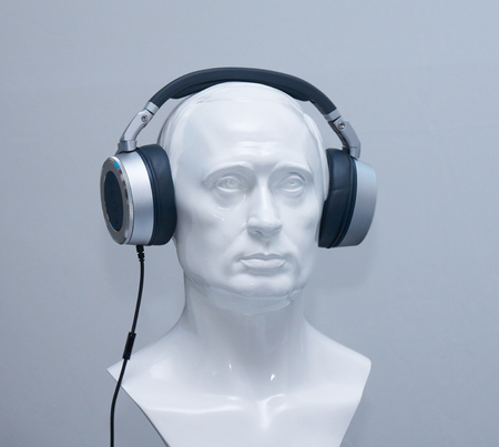 bust: Bust in stereo headphones