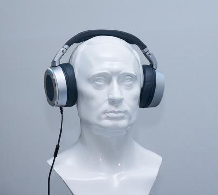 estereo: Busto en los auriculares est�reo
