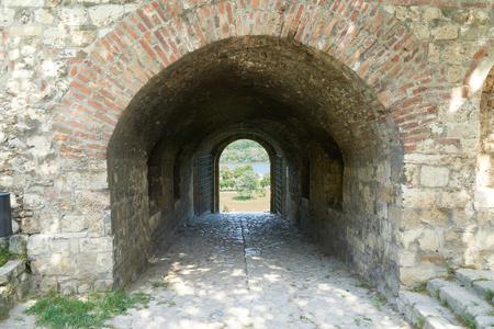 Stone gates in Belgrade fortress in Serbia Stock Photo