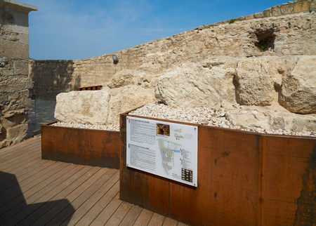 Belgrade, Serbia - May 03, 2018: Arheological cultural layers revealed on the territory of Belgrade fortress
