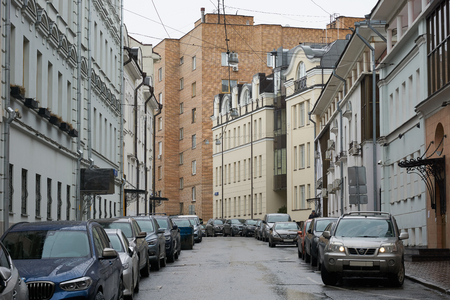 Moscow, Russia - March 22, 2019: Nashchokinskiy pereulok (lane)