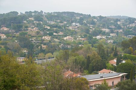 Outscirts of Mougins in France. View from old village hill.